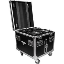PROLIGHTS FCLSHINE332 FLIGHT CASE 4 POSTI PER CONTENERE TESTA MOBILE ONYX  RUBY CRYSTAL