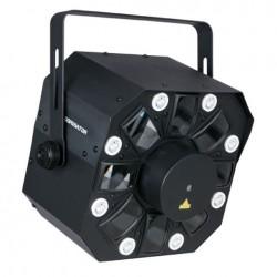 SHOWTEC DOMINATOR EFFETTO LED RGBWA STROBO LASER RG DMX
