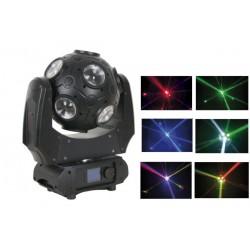 SHOWTEC GALAXY 360 TESTA MOBILE BEAM ROTANTE 360° 12x 9W RGBW